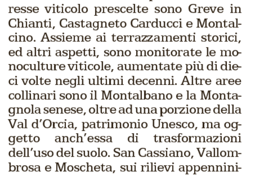 Articolo su Repubblica del 3 Aprile: Il Paesaggio toscano sotto controllo.