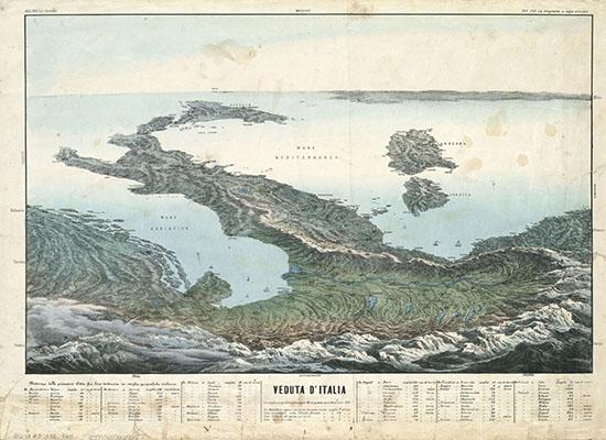 veduta-d italia-in-la-geografia-a-colpo-d occhio-tav-xvi-lit-corbetta-milano-1853 -da-www artslife com