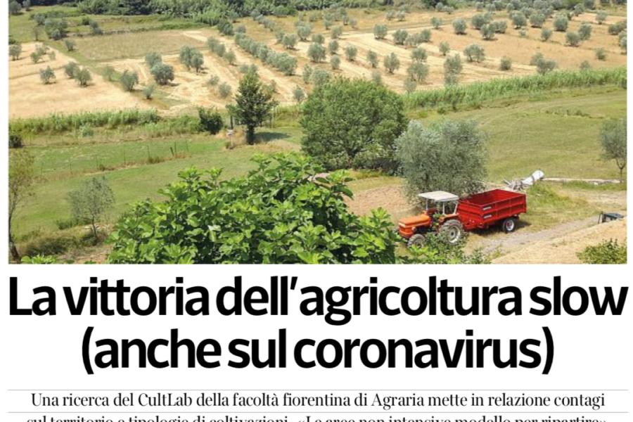 «MENO CONTAGI DOVE L'AGRICOLTURA NON È INTENSIVA» La vittoria dell'agricoltura slow (anche sul coronavirus)